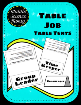 Discussion Table Jobs for Science