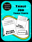 Table Job Table Tents (For Discussions in Science)