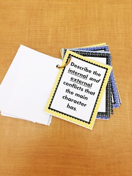 Discussion Task Cards for Any Fiction Novel