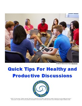 Discussion Tips for Teachers
