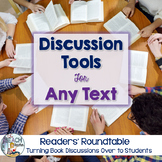 Novel Study - Reading Comprehension and Discussion Tools f