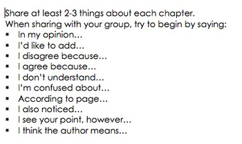 Discussion Topics for Lit Circles