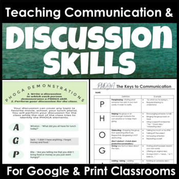 Discussion and Communication Skills for Secondary Students