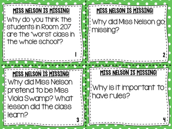 Miss Nelson is Missing - Socratic Seminar introduction for Early Elementary