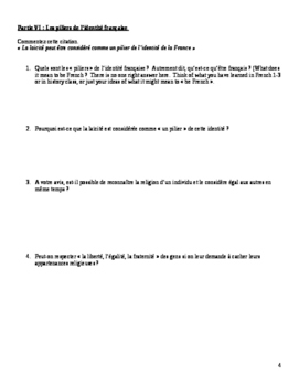 AP French, French 4: Discussion du voile en France