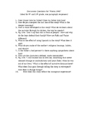 """Discussion questions and essay prompts for """"Fiesta 1980"""" b"""