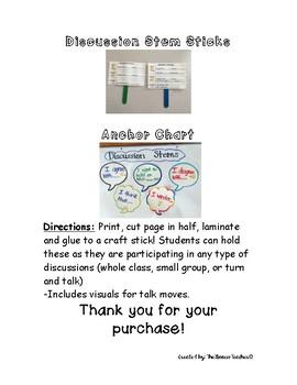 Discussion stems/ Talk Stems