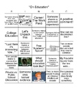 Discussions BINGO (Discussion on Education)