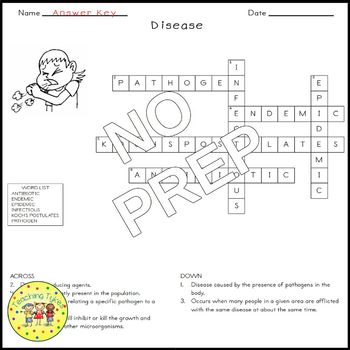 Disease Biology Crossword Puzzle