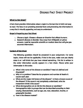 Disease Fact Sheet Project