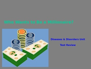 Disease Unit Who Wants to be a Millionaire Game