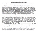 Disease and Disorder ABC Book