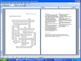Diseases Crossword Puzzle, Bacteria and Viruses