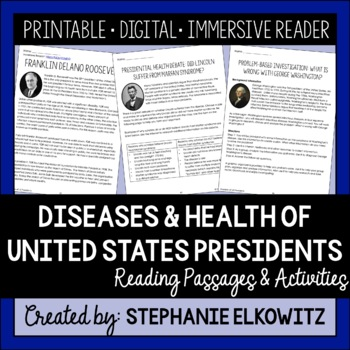 President's Day Science Activities: Diseases and Health of US Presidents