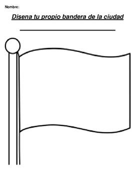 Disena tu propio bandera de la ciudad Create your city or town flag