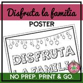 Disfruta La Familia Coloring Poster