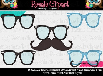 Disguise 1 Glasses & Mustaches ClipArt - CU