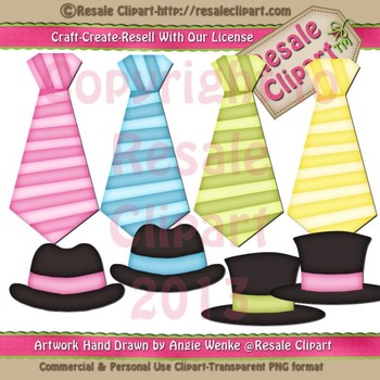Disguise Party 2 Ties & Hats ClipArt - CU