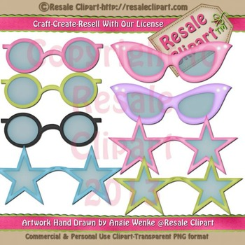 Disguise Party 3 Sunglasses ClipArt - CU