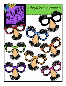 Disguise Glasses {Creative Clips Digital Clipart}