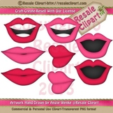 Disguise Party 4 Lips ClipArt