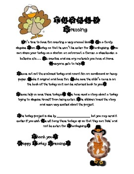 Tom Turkey Disguise Worksheets Teaching Resources Tpt