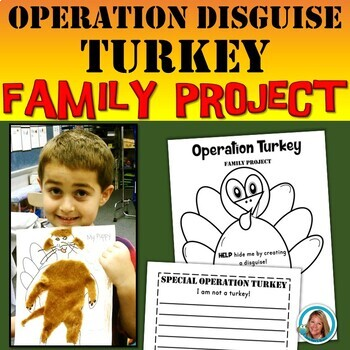Disguise Turkey Writing Family Project