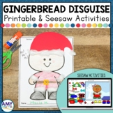 Disguise a Gingerbread Man Project and Seesaw Activity for