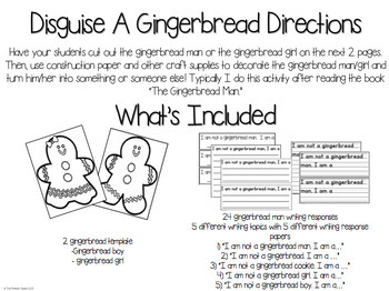Disguise a Gingerbread Man activity