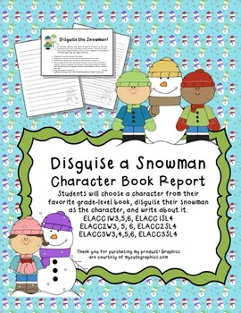 Disguise a Snowman Character Book Report