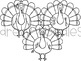 Disguise a Turkey Digital Clip Art Set- Black Line Version