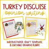 Disguise a Turkey: Thanksgiving Opinion Writing & Craft (EDITABLE!)