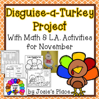 Disguise-a-Turkey Activity with Math and LA Activities for