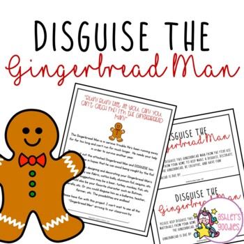Disguise the Gingerbread Man Activity with Writing Assignment