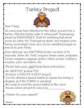 Disguise the Turkey: A Thanksgiving Project