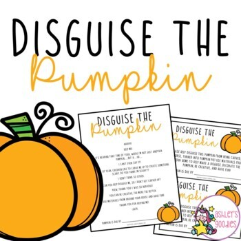 Disguise the pumpkin activity packet