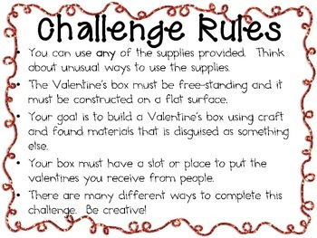 Disguised Valentine's Box: Engineering Challenge Project ~ Great STEM Activity!