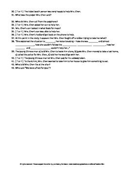 Disguises by Jean Fong Kwok Guided Reading Worksheet