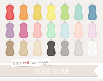 Dish Soap Clipart; Clean, Cleaning Supplies, Bottle