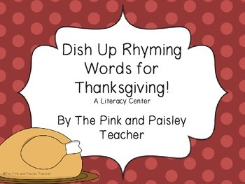 Dishing Up Rhyming Words for Thanksgiving