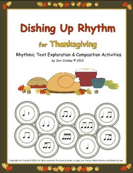 Dishing Up Rhythm - Thanksgiving Speech & Rhythm Activities