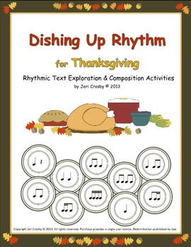 Dishing Up Rhythm - Thanksgiving Speech & Rhythm Activities