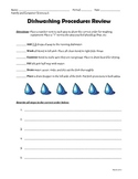 Dishwashing Procedures Review Sheet