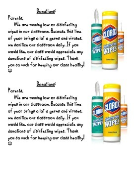 Disinfecting Wipe Donation