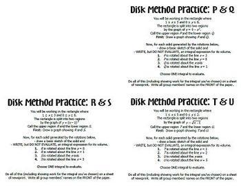 Disk Method Practice Activity
