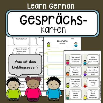 Diskussionskarten - Gesprächskarten - German communication