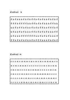 Disleksija: razlikovanje slova m/n i d/b