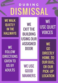 Dismissal Behavior Expectations Poster