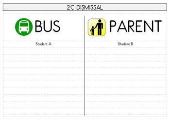 Dismissal Bus Parent Pick Up