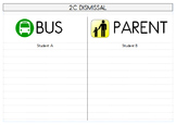Dismissal Bus Parent Pick Up